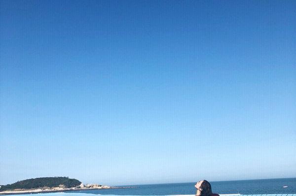 福建漳州抖音网红无边泳池、火山岛白塘湾旅游景点图白塘湾无边泳池